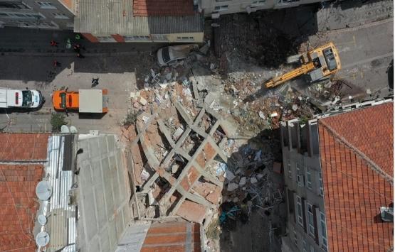 Zeytinburnu'nda çöken bina incelendi!