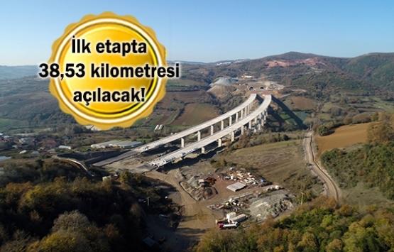 Kuzey Marmara Otoyolu'nun yüzde 85'i tamamlandı!