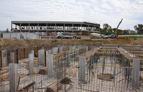Alanya Toptancı Hali inşaatı yükseliyor!