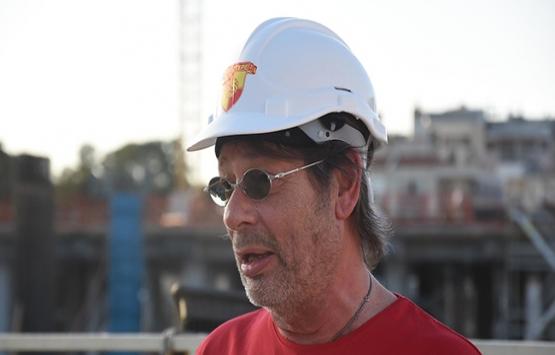 Göztepe Stadı'nın inşaatı