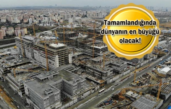 Başakşehir Şehir Hastanesi'nin yüzde 35'i bitti!