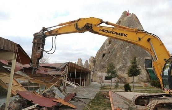 Kapadokya'daki talan tepki