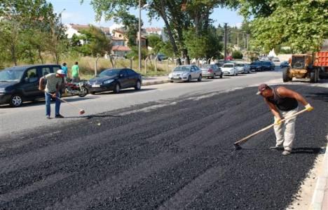 Kazılan asfalt ve