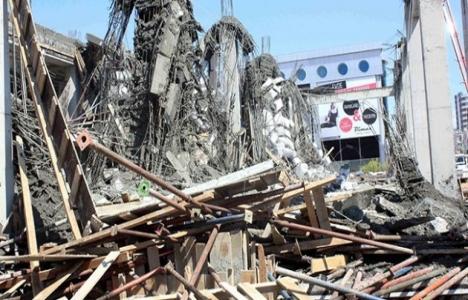 Mersin'de inşaatta göçük: