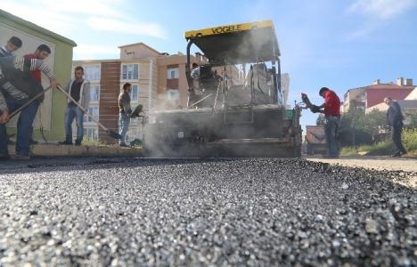 Kırıkkale'de sıcak asfalt serme çalışmaları başladı!