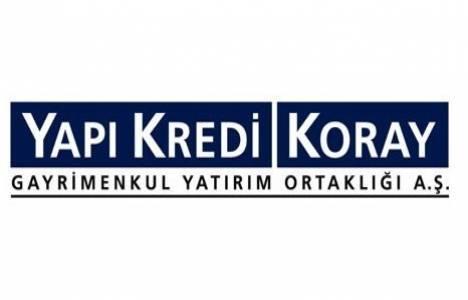Yapı Kredi Koray GYO finansal tablolarını açıkladı!