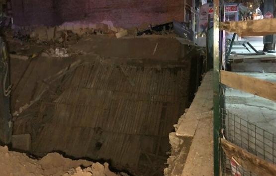 Ankara'da inşaat temel kazısının bitişiğindeki üç katlı dükkan çöktü!