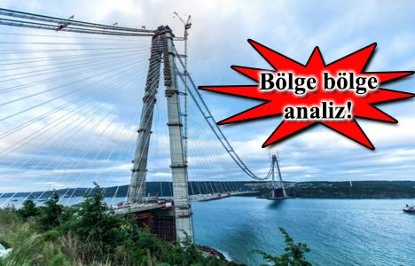 3. köprü güzergahındaki