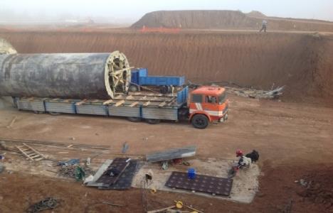 Reyhanlı Barajı'nın inşaatında