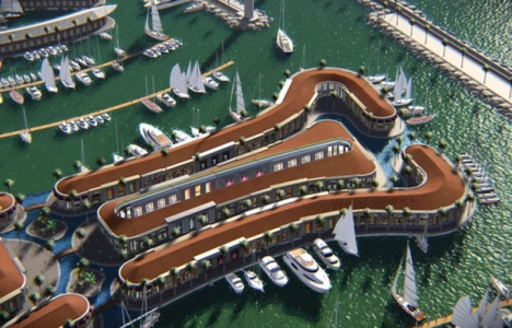 Viaport Marina'nın akvaryum