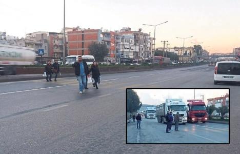 İzmir Menemen'de halk