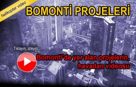 Bomonti projelerinin havadan