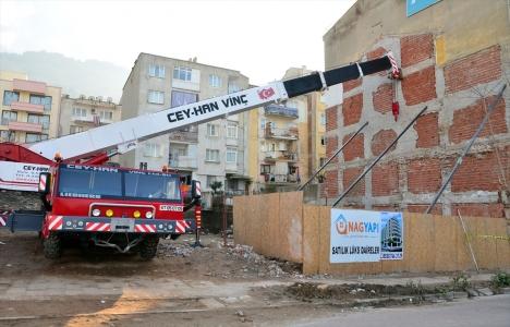 Manisa Şehzadeler'de apartman inşası sırasında kaza meydana geldi!