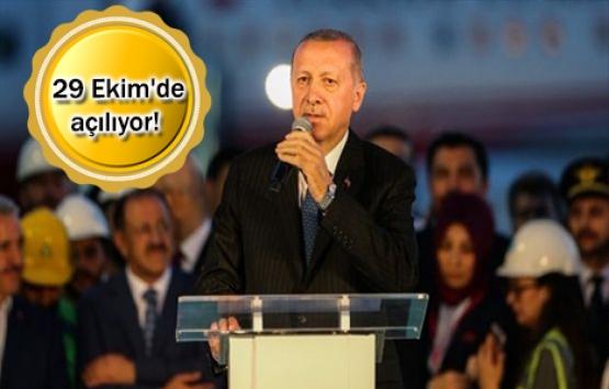 3. Havalimanı'na ilk inişi Cumhurbaşkanı Erdoğan yaptı!