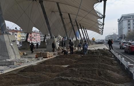 Malatya Kültür Merkezi ve Semt Pazarı'nda inşaat çalışmaları devam ediyor!