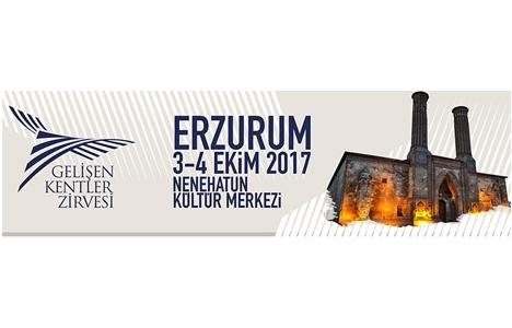 Erzurum Gelişen Kentler Zirvesi 3-4 Ekim'de!