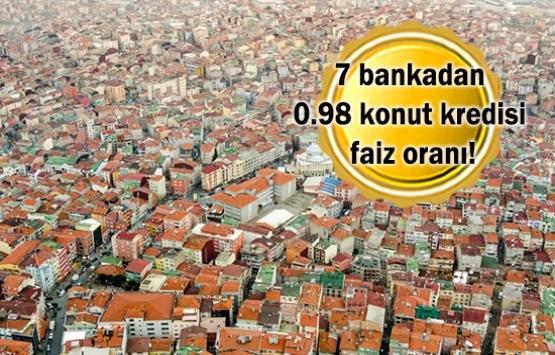 Bankalar yüzde 0.98 faizle konut kredisi kullandırmaya devam ediyor mu?