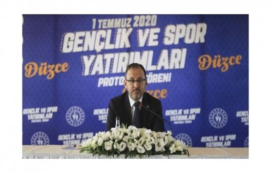 Gençlik ve Spor Bakanlığından Düzce'ye 32 milyon liralık tesis yatırım!