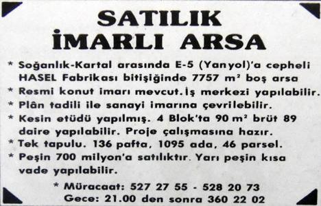 1987 yılında Kartal'da