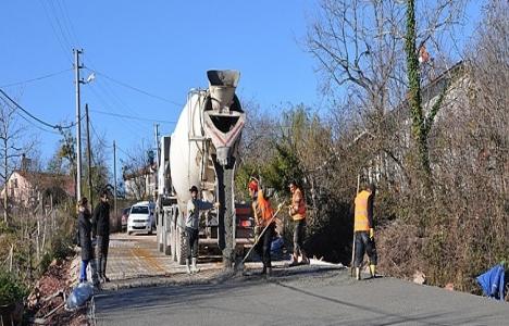 Gebze'de beton yol