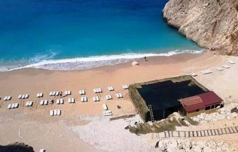 Antalya Kaputaş Plajı'ndaki inşaat durduruldu!