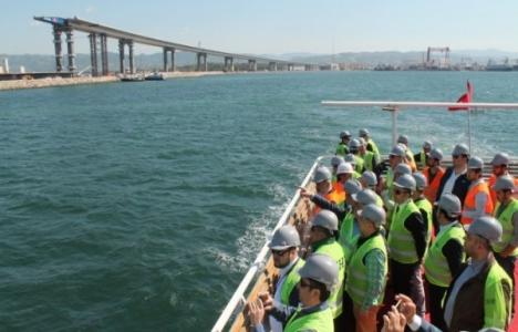 İMSİAD'tan İzmit Körfez Geçiş Köprüsü'ne teknik gezi!