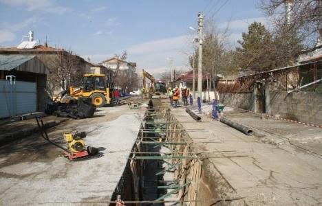 Erzincan'da kanalizasyon hattı yenileniyor!