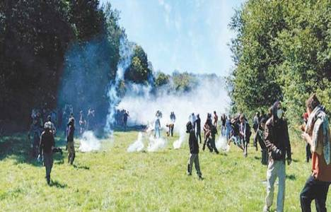 Fransa'da direnişçiler baraj inşaatına karşı!