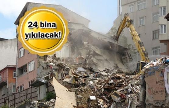 Kağıthane'de hasarlı binaların