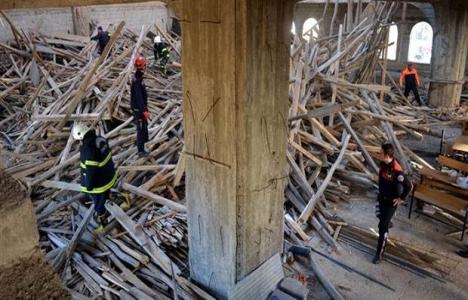 Kahramanmaraş'ta cami inşaatında