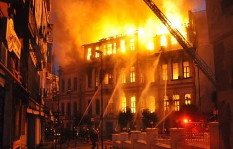 Konya Akşehir'de yangın
