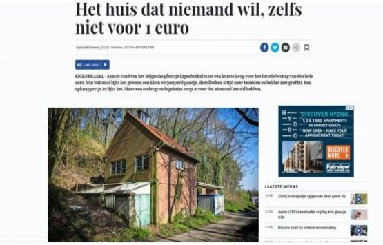 Belçika'daki müstakil ev 1 Euro'ya satılıyor!