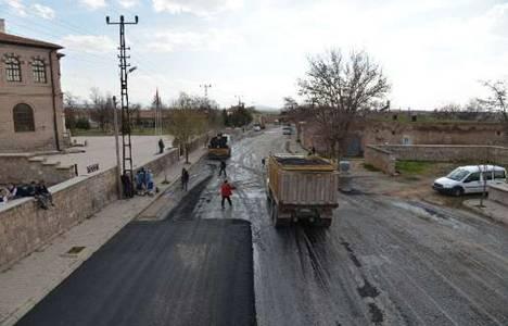 Kayseri Ağırnas'ta asfaltlama çalışması yapılıyor!