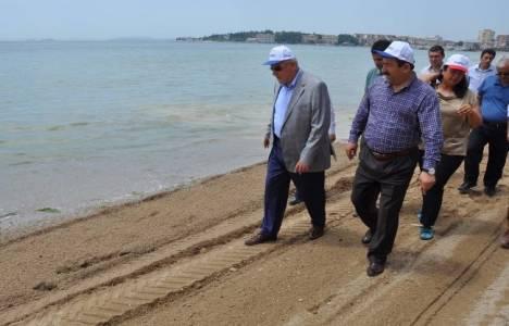 Bayramoğlu sahilleri genişletme çalışmaları Temmuz'da tamamlanacak!