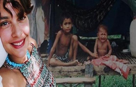 Bergüzar Korel'in hayranları Kamboçya'da ev yaptırdı!