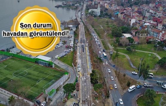 Eminönü-Alibeyköy tramvay hattının rayları yerleştiriliyor!