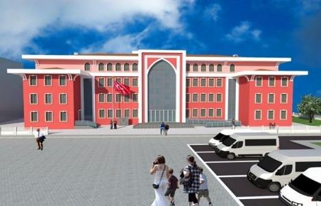 Çanakkale Atatürk Ortaokulu yeni binası hızla yükseliyor!
