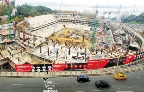 Vodafone Arena'nın inşaatı