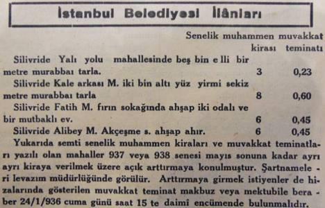 1936 yılında Silivri'de