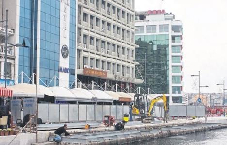 İzmir Pasaport'taki seyir