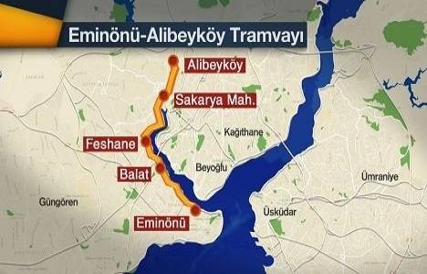 İBB Eminönü- Alibeyköy tramvay hattına 492 milyon TL ayırdı!