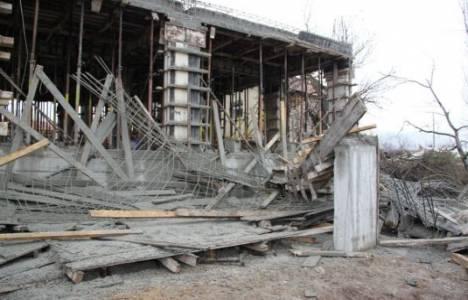 Van'da inşaat çöktü, 1 kişi yaralandı!