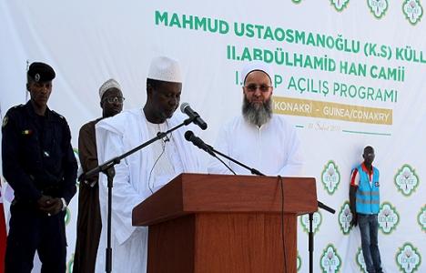 Gine'deki II. Abdülhamid Han Camisi açıldı!