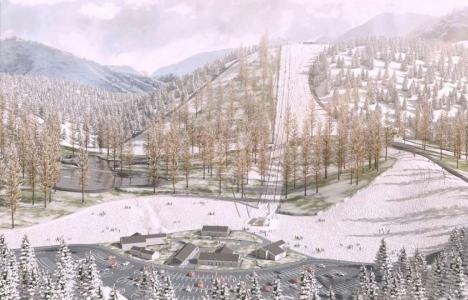 Yedikuyular Kayak Merkezi için ilk kazma vuruldu!