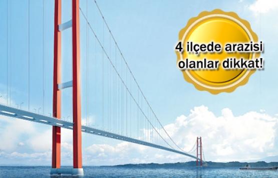 1915 Çanakkale Köprüsü otoyolu için kamulaştırma kararı!