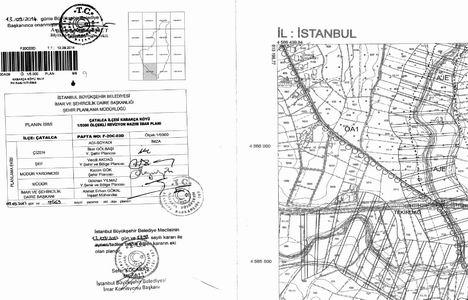 Çatalca Kabakça Köyü imar planı bugün askıdan indiriliyor!