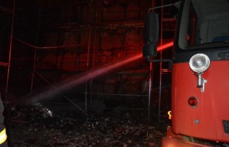 Muğla Ortaca Devlet Hastanesi inşaatında yangın çıktı!