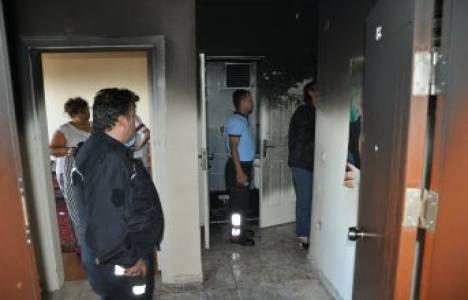 Kozan'da öğrencilerin kaldığı bir evde yangın çıktı!