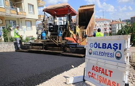 Gölbaşı'nda asfalt çalışmaları başladı!