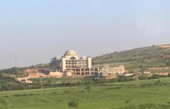 Gaziantep'te dikkat çeken külliye inşaatı!